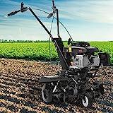 BRAST Benzin Motorhacke 4,4kW(6PS) mit 2 Arbeitsbreiten 36cm & 60cm Ackerfräse Gartenfräse Bodenfräse Kultivator
