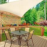 WOKKOL Sonnensegel, Sonnensegel Garten, Sonnenschutz Balkon, Überlegene Reißfestigkeit, 90% UV-beständig, Atmungsaktiv, 185 g/㎡ HDPE mit Dichte, für Terrasse/Garten(3M x 3M x 3M)
