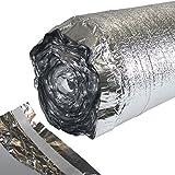 100 m² ALU Trittschalldämmung 2 mm für Laminatunterlage oder Parkettunterlage mit Dampfsperre