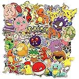 80 Stücke Pokemon Sticker Pack, einzigartige Kühle Aufkleber Kind Teenager Notebook Gitarre...