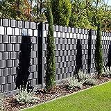 Premium Zaunsichtschutz HART-PVC / 9 x Streifen 2,525 m (1,76 EUR/m) / Höhe 19 cm Anthrazitgrau - Zaun Sichtschutzstreifen Fachhandelsware für Doppelstabmattenzaun Zaun Sichtschutz anthrazit