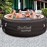 Bestway Limited Whirlpool aufblasbar für 6 Personen | Ø 196cm | bis 40° Heizung | Thermo-Abdeckung & Filterpumpe | beheizter Pool Outdoor Lay-Z-Spa Wellness