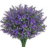 9 Stück Lavendel Pflanze Künstlich Lila Kunstblumen Dekoration Lavendel Gefälschte Blumen Innen- oder Außen Eignet Sich für Familienfeier Büroterrasse oder Hochzeit zu Hause Dekoration