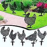 5 Stück Huhn Deko Handarbeit Gartenstatuen, Yard Dekor, Hühner Garten Dekoration,Gartenfigur Huhn Deko,Gartenfigur Huhn Deko,Handarbeit Gartendeko,Chicken Yard Art Gartenschilder,Gartenstatuen
