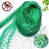 FEIGO Garden Vogelschutznetz Teichnetz, reißfestes Obstbaumnetz Teichabdecknetz aus Polyäthyle Schutznetz für Teiche Pool - Laubschutznetz 4x10 m Grün