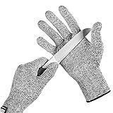 Ohuhu Handschuhe schnittfest–Schutz auf 5Hohe Leistung, Ebene, lebensmittelecht schnittfeste
