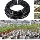 PiniceCore 20m Bewässerungsschläuche PVC-Schlauchleitung 4/7 mm Micro Tropfbewässerung Rohrsystem Sprinkler Fittings Schlauchtrommeln für Gärten Spülungen