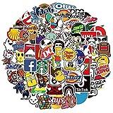 HuanTai Coole Marke Stickers für Erwachsene Teens Kinder-101 Pack Vinyl-Aufkleber für...