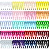 HBselect 120Stk Haarspangen (20 verschiedene Farben) mehrfarbige Hairclips für Mädchen Kleinkinder Damen