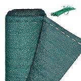 Relaxdays Zaunblende, Sichtschutz für Zaun & Balkongeländer, HDPE Gewebe, UV-stabilisiert, wetterfest, 1,2 x 30 m, grün