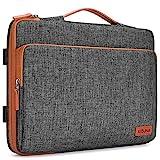 KIZUNA Laptop Hülle 14 Zoll Wasserdichter Notebook Tasche Schultertasche Rucksack Aktentasche für Lenovo Flex 14/14' HP EliteBook 840 G5/Pro 14 G3/Dell Latitude 7490 5490/15' Surface Laptop 3, Brown