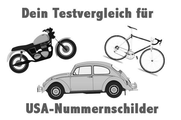 USA-Nummernschilder