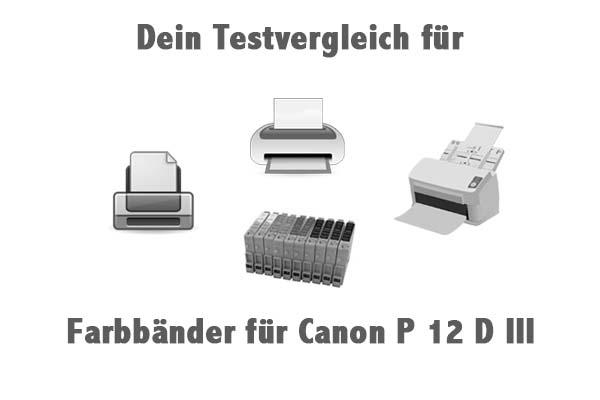 Farbbänder für Canon P 12 D III