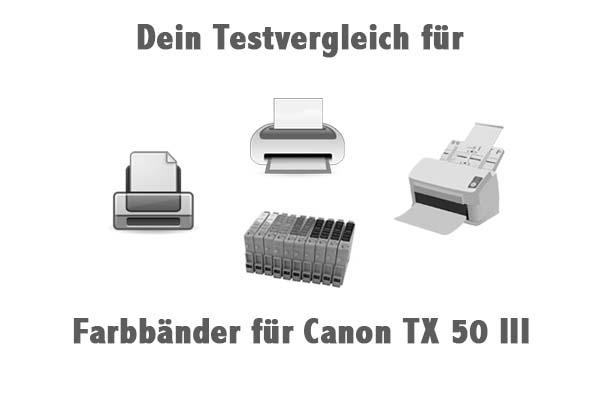 Farbbänder für Canon TX 50 III