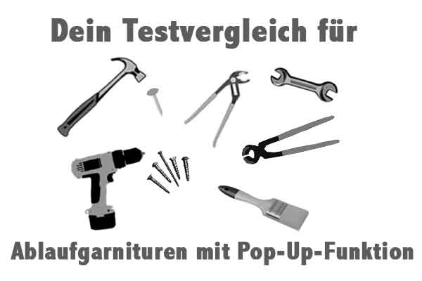 Ablaufgarnituren mit Pop-Up-Funktion
