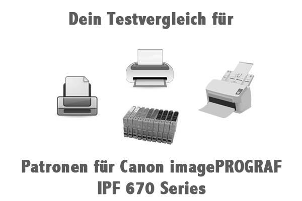 Patronen für Canon imagePROGRAF IPF 670 Series