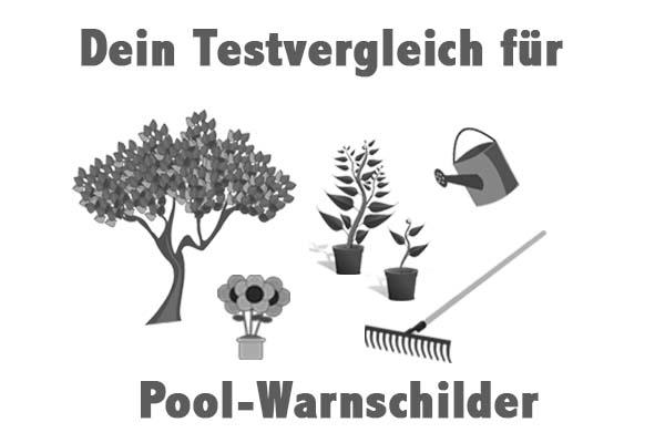 Pool-Warnschilder