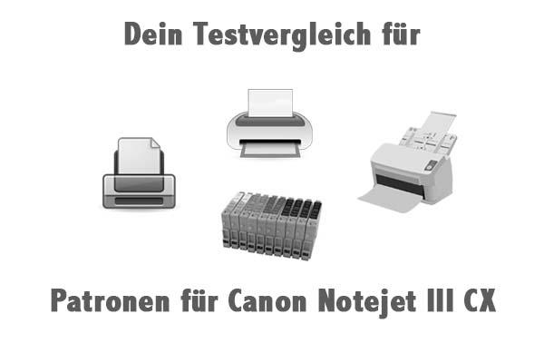 Patronen für Canon Notejet III CX