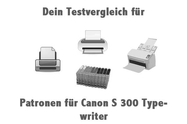 Patronen für Canon S 300 Typewriter