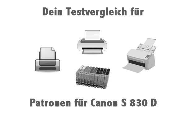 Patronen für Canon S 830 D