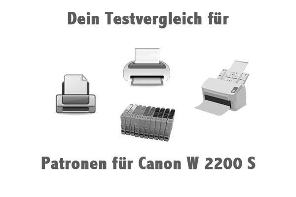 Patronen für Canon W 2200 S