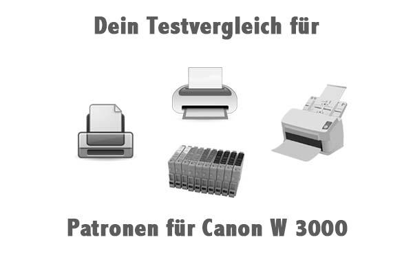 Patronen für Canon W 3000