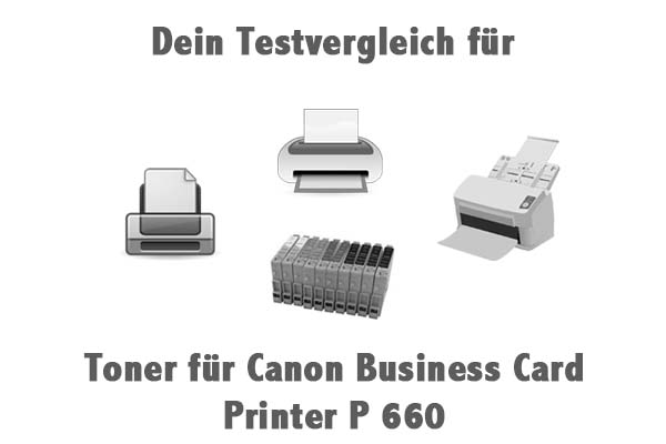 Toner für Canon Business Card Printer P 660