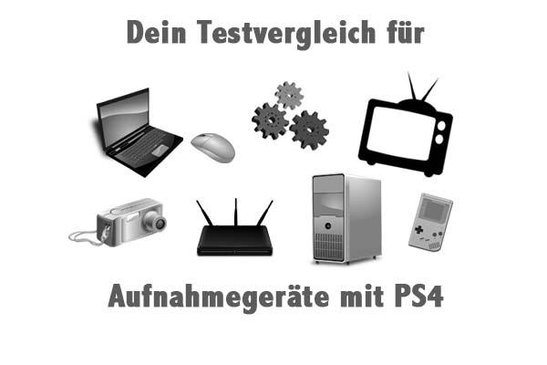 Aufnahmegeräte mit PS4