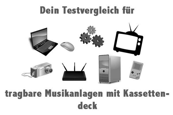 tragbare Musikanlagen mit Kassettendeck
