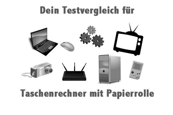Taschenrechner mit Papierrolle