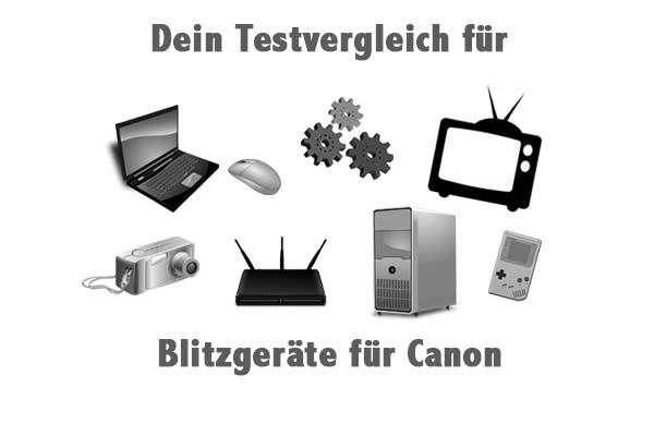 Blitzgeräte für Canon