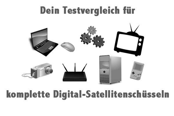 komplette Digital-Satellitenschüsseln