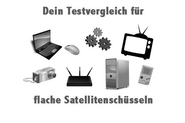 flache Satellitenschüsseln